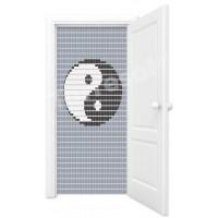 Vliegengordijn Yin yang