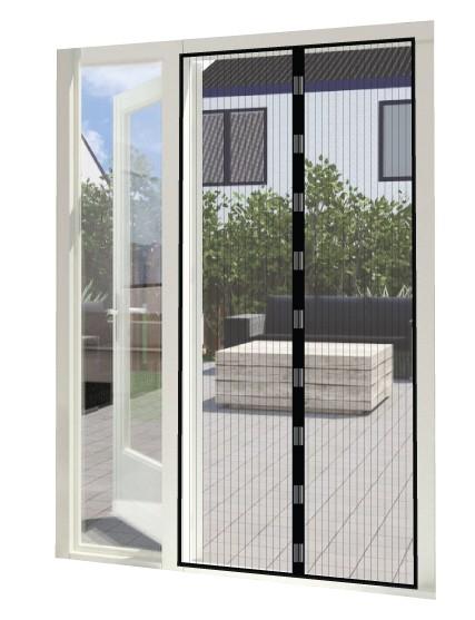 Magneetgordijn zwart (enkele deur)